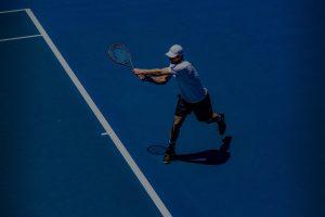 Viola Tennis Background Blue