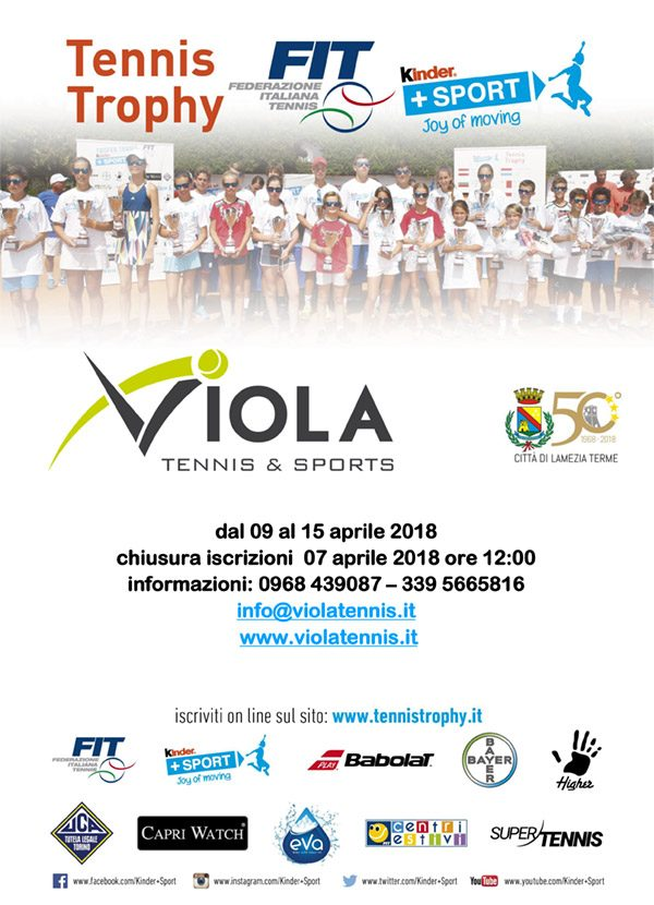 Locandina Kinder - VIOLA TENNIS & SPORTS