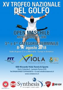 Open maschile agosto 2018