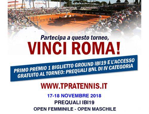VINCI ROMA! Partecipa al torneo – ORARIO