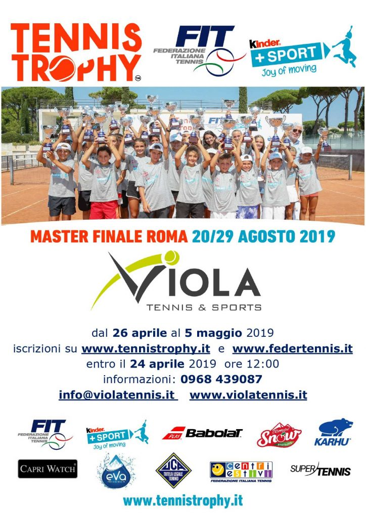 Tennis Trophy - Kinder 2019 - Locandina